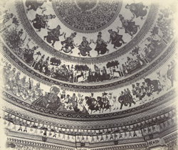 Interior of the dome of Swami Narayan's temple [Junagadh] 2655